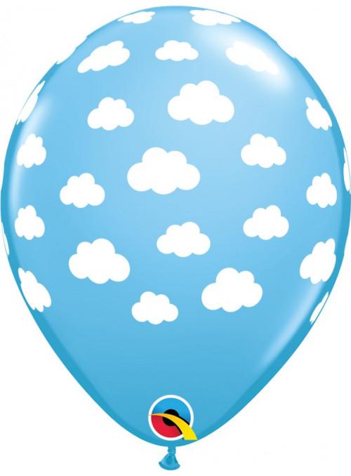 Bexiga Balão Nuvens 11 Polegadas 28cm Qualatex 6 unidades
