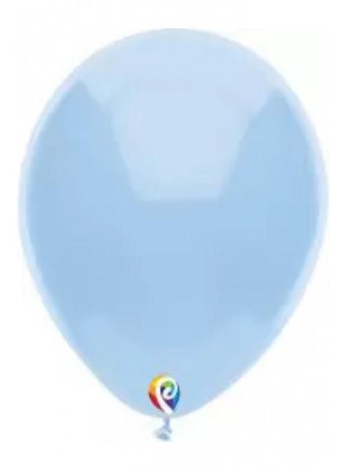Balões Azul Bebe 12 Polegadas 30cm Sensacional Qualatex – 15 unidades