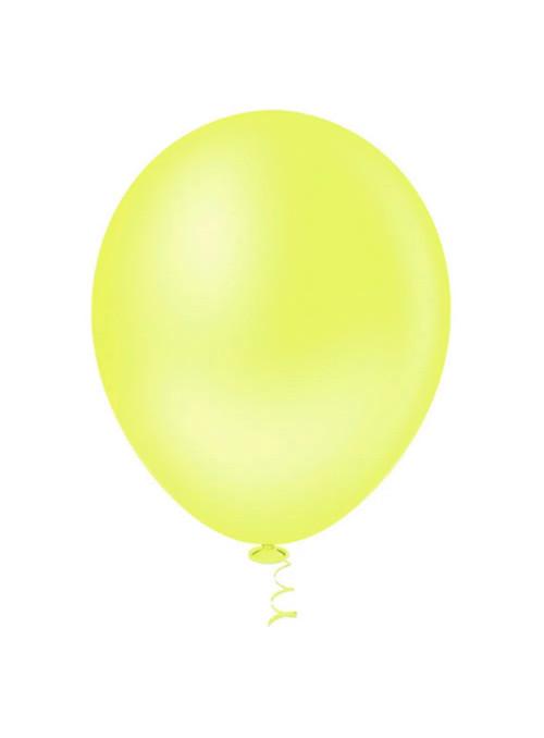 Balões Amarelo Neon 12 Polegadas 30cm Sensacional Qualatex – 15 unidades