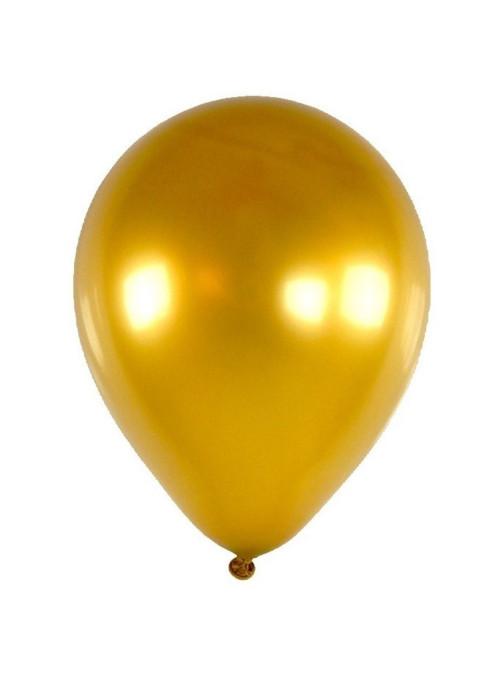 Balões Dourado Metálico 12 Polegadas 30cm Sensacional Qualatex – 15 unidades
