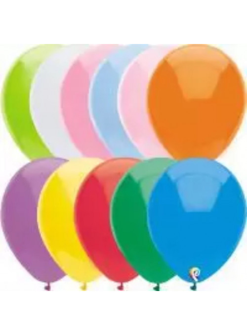 Balões Cores Sortidas 12 Polegadas 30cm Sensacional Qualatex – 15 unidades