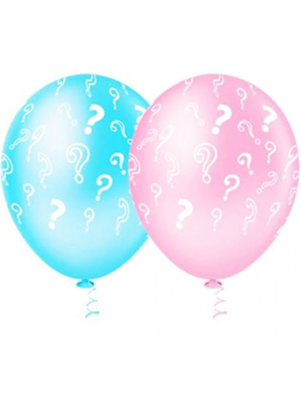 Balões de Látex Chá Revelação Rosa e Azul – 25 unidades