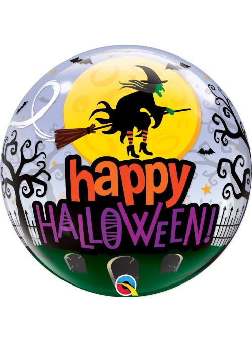 Balão Bubble Halloween Bruxa 22 Polegadas 56cm Qualatex