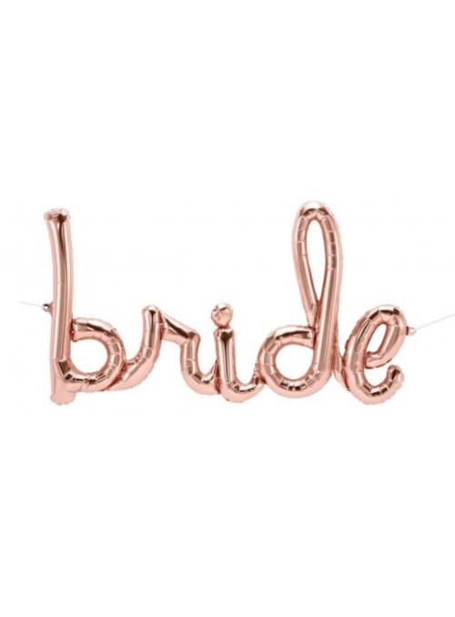 Balão Metalizado Casamento Bride Noiva Rose Gold 33 Polegadas North Star Balloons
