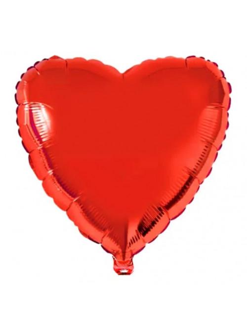 Balão Metalizado Coração Vermelho 32 Polegadas 80cm