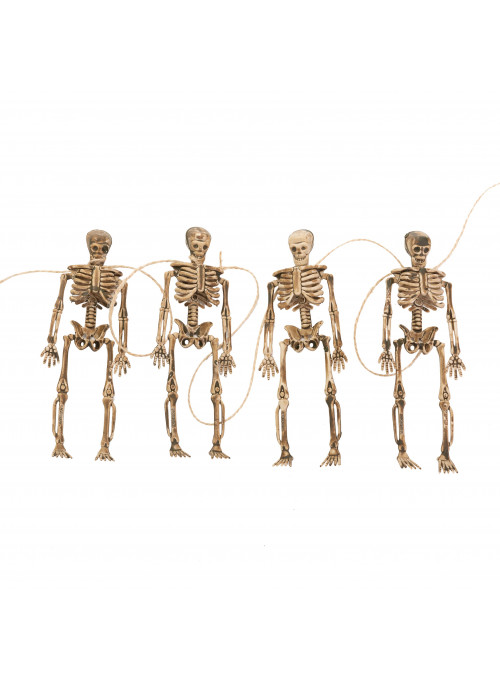 Enfeite Guirlanda Halloween Esqueletos Silver Festas