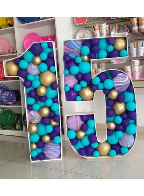 Número com Balões Descontruídos 1 Metro Locação - 1 unidade