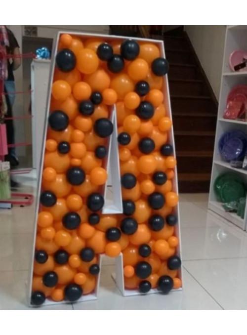 Letra com Balões Descontruídos 1 Metro Locação - 1 unidade