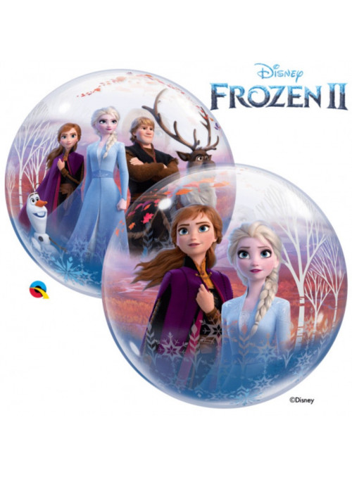 Balão Bubble Transparente Frozen
