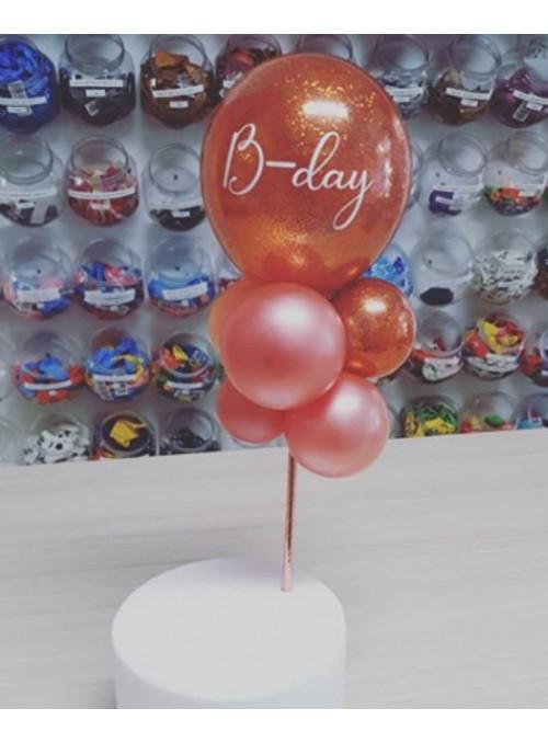 Balões Desconstruídos Personalizado Cake TopperTopo de Bolo