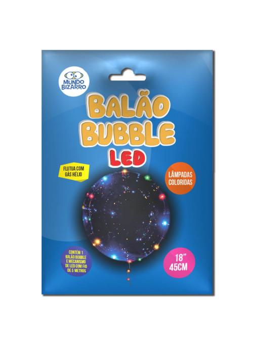 Balão Bubble Led Colorido 18 Polegadas 45cm Mundo Bizarro