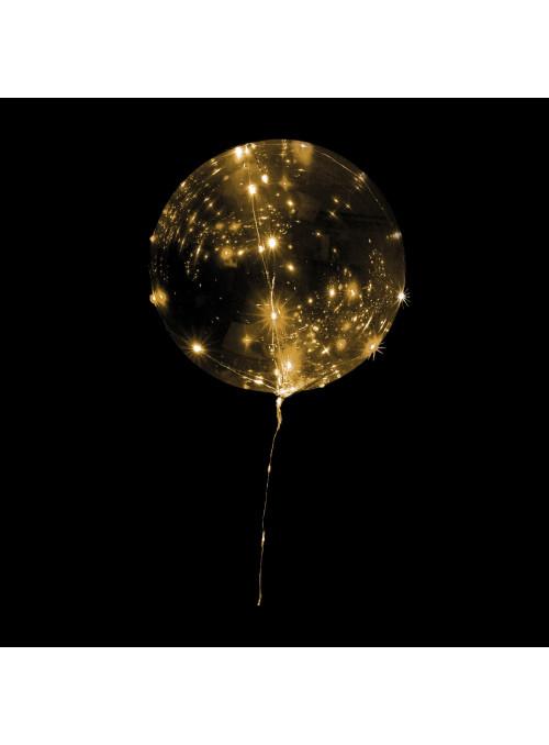 Balão Bubble Led Dourado 18 Polegadas 45cm Mundo Bizarro