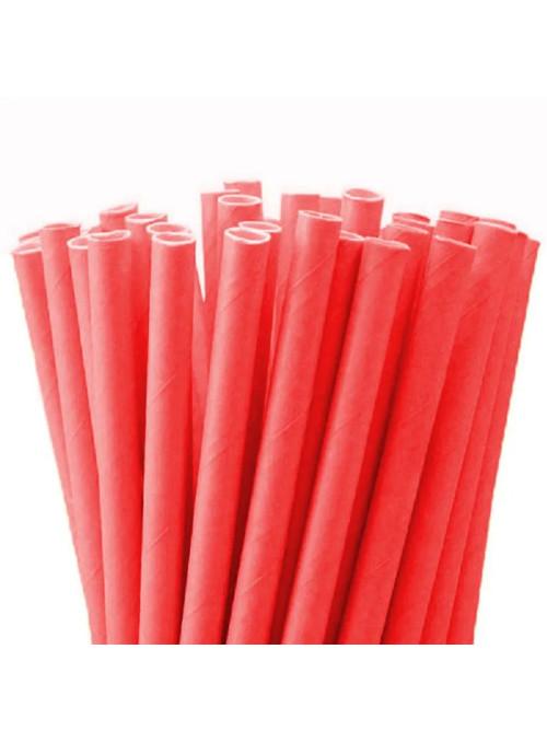 Canudos de Papel vermelho – 20 unidades