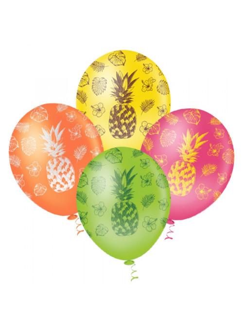 Balões de Látex Abacaxi Sortidos - 25 unidades