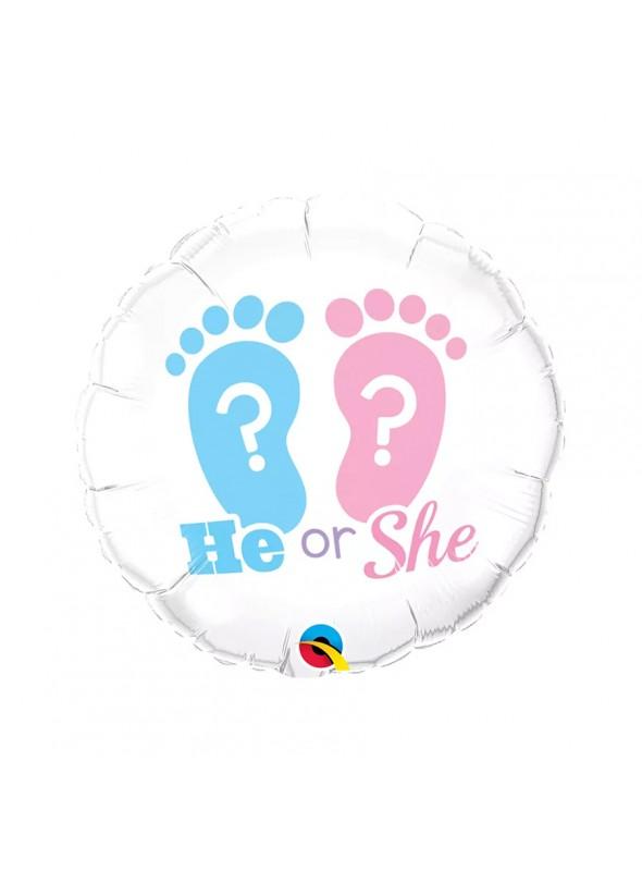 Balão Metalizado Chá Revelação He Or She