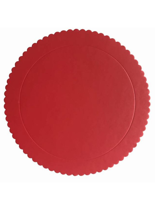 Cake Board Base para Bolo Vermelho 24cm Silver Chef