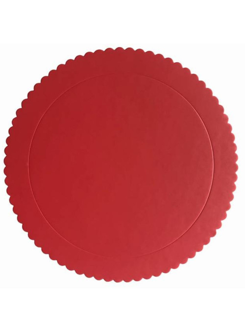 Cake Board Base para Bolo Vermelho 28cm Silver Chef