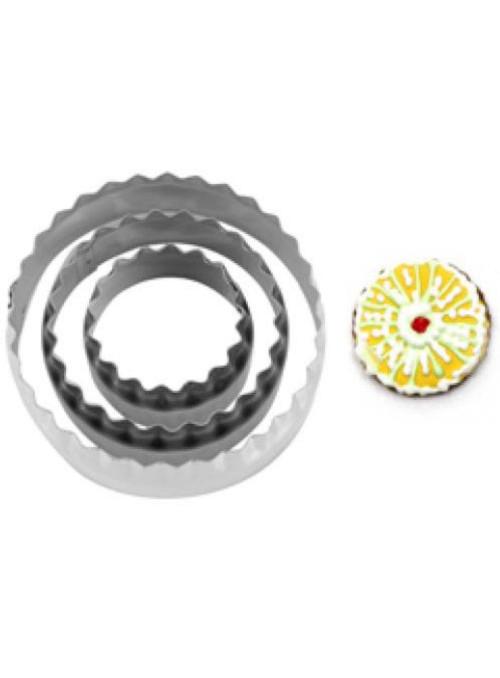 Cortador de Aço Inox Redondo Silver Chef 3 unidades