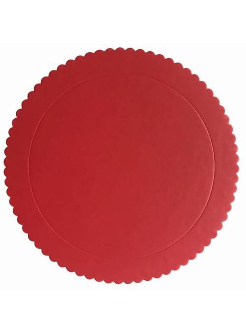 Cake Board Base para Bolo Vermelho 32cm Silver Chef