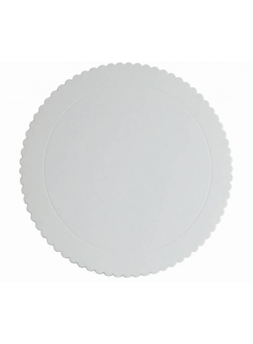Cake Board Base para Bolo Branco 32cm Silver Chef
