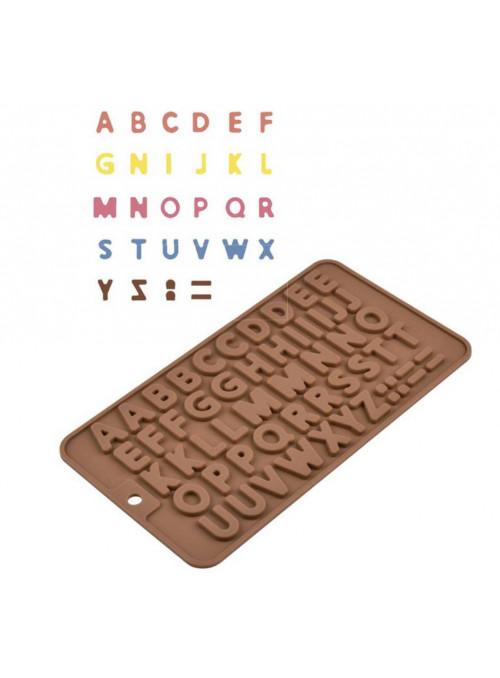 Forma Molde de Silicone para Chocolate Letras Silver Chef
