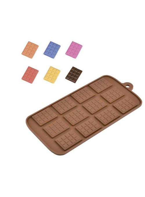 Forma Molde de Silicone para Chocolate Tablete Silver Chef