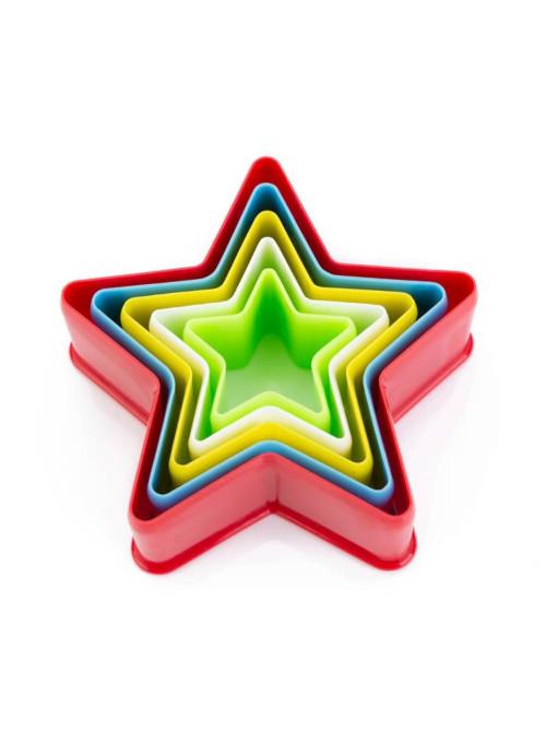 Cortador de Plástico Estrela Silver Chef 5 unidades