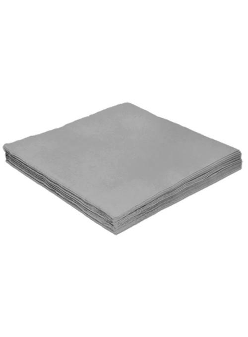 Guardanapos de Papel Folha Dupla Prata 32x32 Silver Festas – 20 unidades
