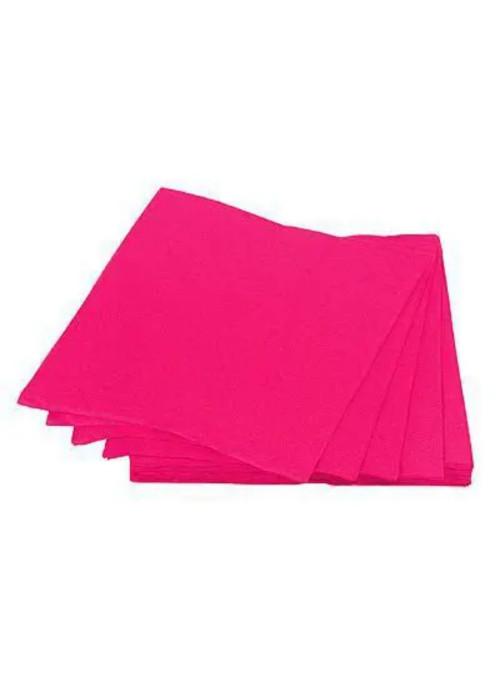 Guardanapos de Papel Folha Dupla Rosa Pink 32x32 Silver Festas – 20 unidades