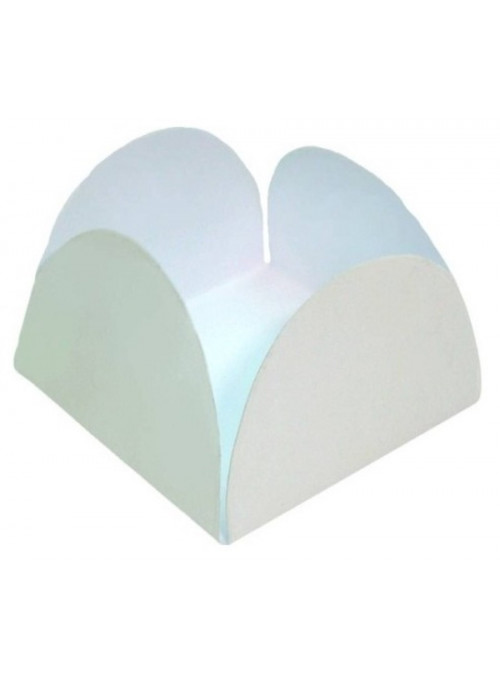 Forminhas para Doces 4 Pétalas Branca 3,0cm x 2,0cm