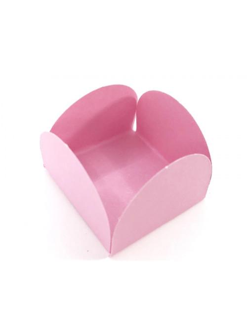 Forminhas para Doces 4 Pétalas Rosa Claro 3,0cm x 2,0cm 50 unidades