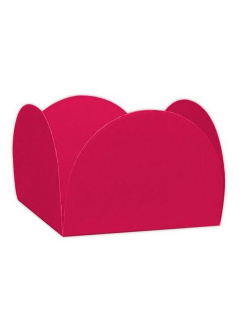 Forminhas para Doces 4 Pétalas Rosa Pink 3,0cm x 2,0cm 50 unidades