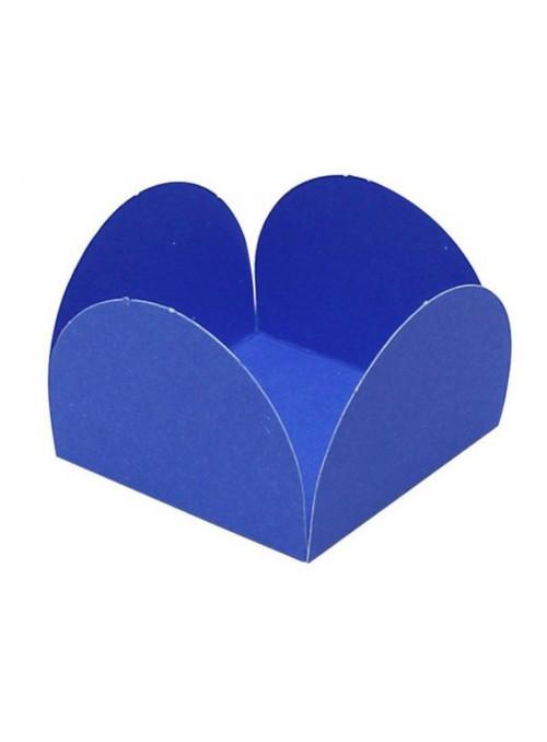 Forminhas para Doces 4 Pétalas Azul 3,0cm x 2,0cm 50 unidades