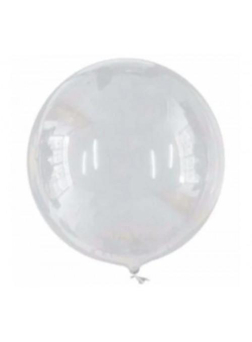 Balão Bolha Cristal 24 Polegadas 60cm Golden Festa