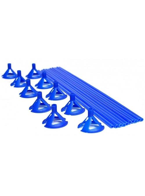 Varetas Pega Balão Azul 30cm 10 unidades