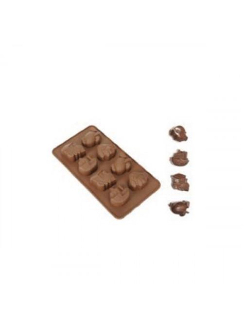 Forma Molde de Silicone para Chocolate Avião Carro Navio Trem Silver Chef