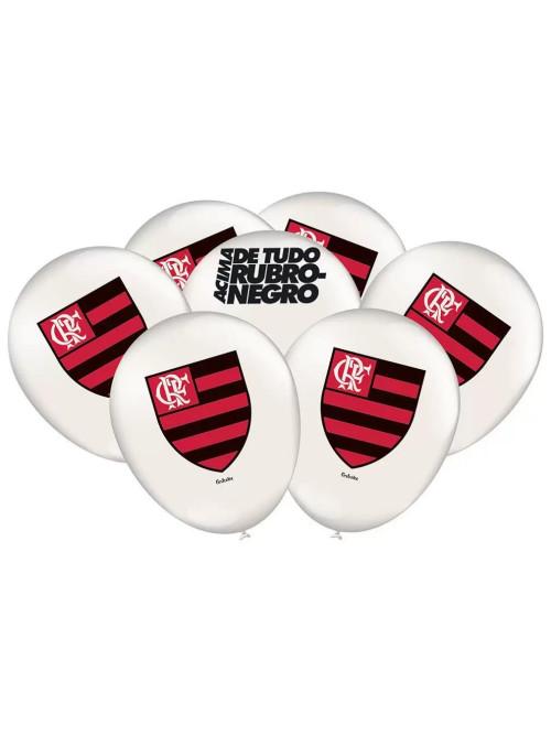 Balões de Látex Time Flamengo 9 Polegadas 23cm Festcolor 25 unidades