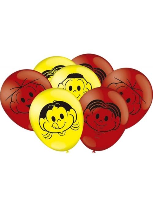 Balões de Látex Turma da Mônica 9 Polegadas 23cm Festcolor 25 unidades