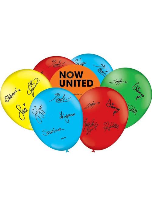 Balões de Látex Now United 9 Polegadas 23cm Festcolor 25 unidades