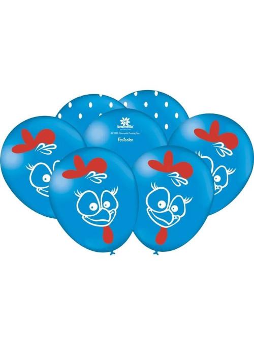 Balões de Látex Galinha Pintadinha 9 Polegadas 23cm Festcolor 25 unidades