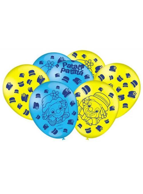 Balões de Látex Patati Patata 9 Polegadas 23cm Festcolor 25 unidades