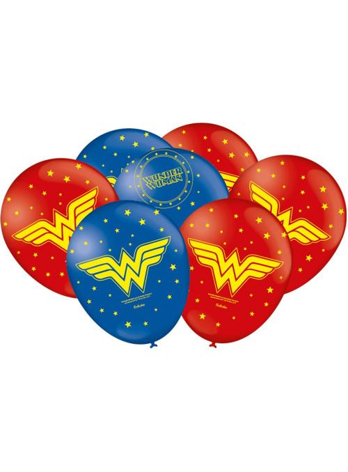 Balões de Látex Mulher Maravilha 9 Polegadas 23cm Festcolor 25 unidades