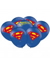 Balões de Látex Super Homem 9 Polegadas 23cm Festcolor 25 unidades