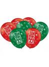 Balões de Látex Jovens Titãs 9 Polegadas 23cm Festcolor 25 unidades