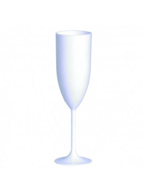 Taça de Champanhe Branca Drink 20,5cm de Altura