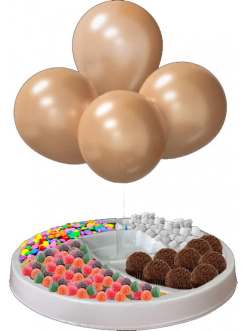 Suporte para Balão Petisqueira 45cm de Altura com Balões Aplicados Piffer