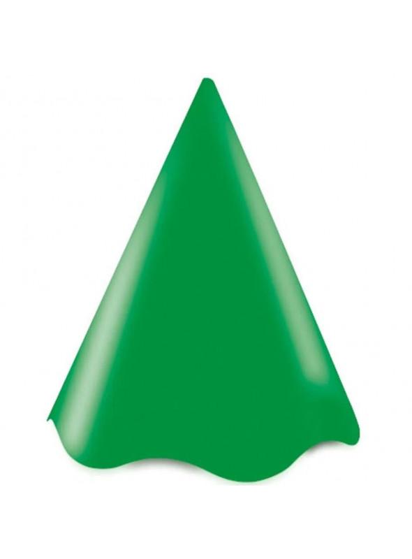 Chapéu de Aniversário Verde 08 Unidades UltraFest