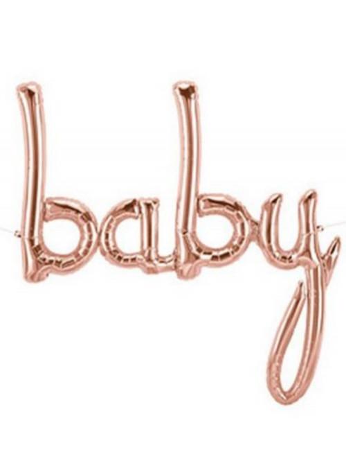 Balão Metalizado Baby Rose Gold 34 Polegadas 86cm North Star Balloons