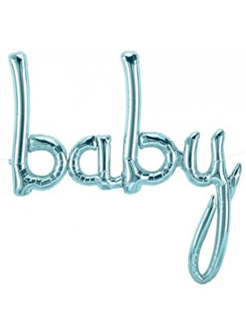 Balão Metalizado Baby Azul 34 Polegadas 86cm North Star Balloons
