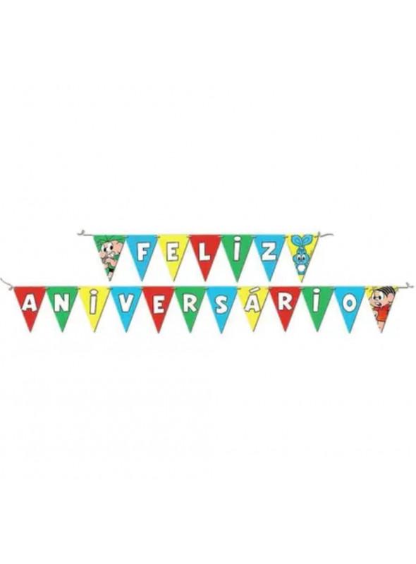 Faixa Feliz Aniversário Festa Turma da Mônica Festcolor